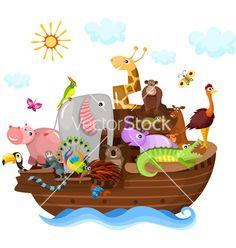 Noah's ark vector on VectorStock®
