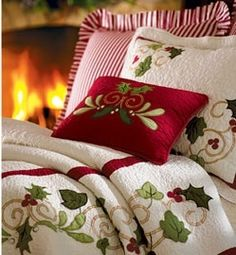 Christmas Bedding for guest room Cozy Christmas, Country Christmas, All Things Christmas, Christmas Holidays, Christmas Decorations, Holiday Decor, Beautiful Christmas, Primitive Christmas, Outdoor Christmas
