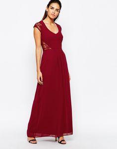 Image 4 ofElise Ryan Maxi Dress With Lace Sleeves
