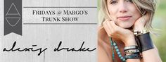 Anyone in Buffalo, Wyoming tomorrow should stop by Margo's Pottery for a bit of refreshments, and to meet the lovely Alexis Drake Garret and look at her jewelry from 5-7 PM.