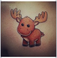 Moose tattoo cartoon