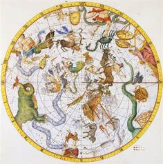 1725 Map of the Constellations by Sir James Thornhill