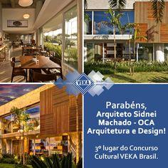 Parabéns ao Arquiteto Sidnei Machado do escritório OCA Arquitetura de Florianópolis, que ficou em 3º lugar no Concurso Cultural VEKA Brasil - 3ª edição. 👏👏👏 👏👏