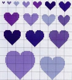cross stitch heart chart