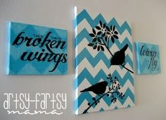 Chevron bird art DIY