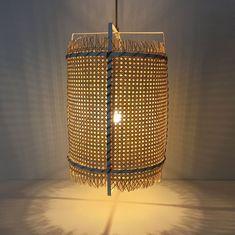 Rattan Cane Pendant Light Bamboo Basket Lamp Modern Rustic Lighting Boho Home Decor Rattan, Rustic Lighting, Bamboo, Dimmable Light Bulbs, Lamp, Home Decor, Modern Rustic, Pendant Light, Bamboo Basket