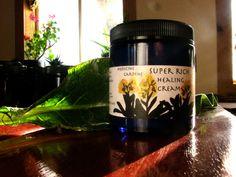 super rich healing cream made with comfrey and calendula