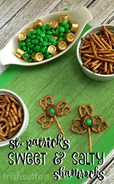 Pretzel Shamrocks: A Chocolate St. Patrick's Day Treat made with Salty Pretzels and Sweet Chocolate Rolos