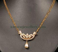 Jewellery Designs: Fancy Black Beads Necklace