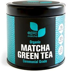 Epic Matcha Green Tea Powder USDA Organic Best Japanese Ceremonial Grade 100 Happiness Guarantee Free -- Continue to the product at the image link. Organic Matcha Powder, Organic Matcha Green Tea, Pure Green Tea, Matcha Green Tea Powder, Best Matcha Tea, Ceremonial Grade Matcha, Benefits Of Organic Food, Tea Packaging, Organic Recipes