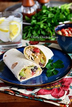 Greek Chicken Wrap r