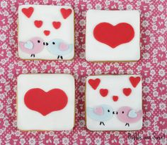 Bubble and Sweet: Are you thinking what I'm thinking Love Bird Valentine Cookies