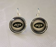 New York Jets Earrings made from Football Trading Cards Great for Game Day…