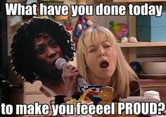 What have you done today to make you feel proud? #miranda hart #heather small