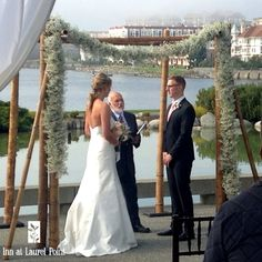 ceremony on our outdoor patio