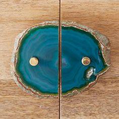 Agate Cabinet Handle - Green #westelm