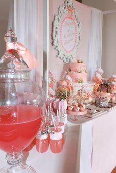 A Pink and Peach Vintage themed 1st Birthday by Paper and Style Co.