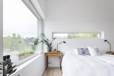Join the sea view from every room in this modern house located in Turku, Finland. With over 250 square meters and bright white interior base this house offer a Cottage Extension, Pretty Bedroom, Other Space, Bedroom Wardrobe, Living Environment, Good Night Sleep, Indoor, Flooring, Interior