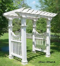 Custom Garden Structures, Arbors - All About Garden Archway, Garden Arbor, Easy Garden, Garden Swings, Porch Swings, Garden Trellis, Garden Wall Designs, Garden Design, Backyard Pergola