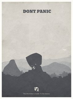 The Hitchhiker's Guide to the Galaxy - minimal poster Art Print