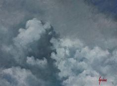 """Daily Paintworks - """"Sky #1"""" - Original Fine Art for Sale - © Graham Townsend"""