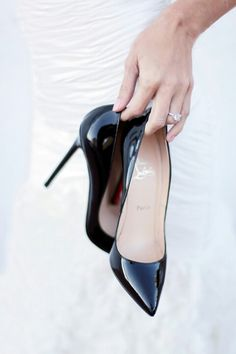 'Louboutin...Elegant look. I love classic and these are it!