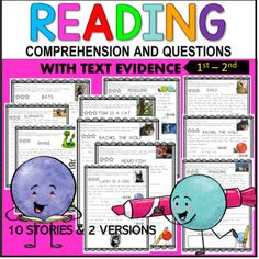 1st –3rd Grade Reading Comprehension Passages and Questions With Real Pictures Reading Comprehension Passages, Reading Fluency, 3rd Grade Reading, Student Reading, Partner Reading, Reading Resources, Classroom Resources, Text Evidence, Independent Reading