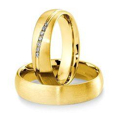 Breuning Trouwringen | Inspiration collectie gouden ringen | 5,5mm briljant 0.084ct verkrijgbaar in 8,14 en 18 karaat | 48041350 / 48041360 OOK in wit en rozé goud verkrijgbaar