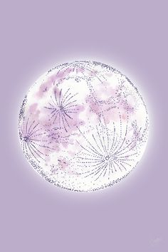 Watercolor Moon, Pastel Watercolor, Aesthetic Images, Aesthetic Wallpapers, Moon Drawing, Lilac, Purple, Simple Wallpapers, Homescreen Wallpaper