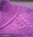 Как оформить такой переход от горловины к воротнику вязаного свитера или джемпера,мастер-класс подробно по фото   Ирина_Паклина - Дневник Ирина_Паклина (дончанка)  