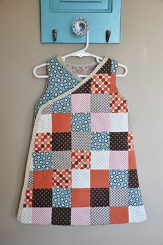 patchwork....ADORABLE, what are the chances I could get Avarie to wear this after I went through all the work to sew it????