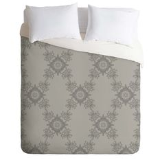 Lara Kulpa Ornamental Grey Duvet Cover   DENY Designs Home Accessories