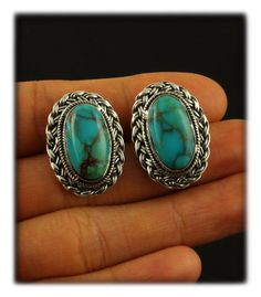 Harvest Weave Earrings with Stormy Mountain Turquoise