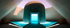 James Turrell 'Within without' Canberra, Australia. Within without' is a major new Skyspace by Turrell, one of his largest and most complex to date. James Turrell, Divine Proportion, Australian Garden, Venice Biennale, Light And Space, Installation Art, Art Installations, Land Art, Light Art