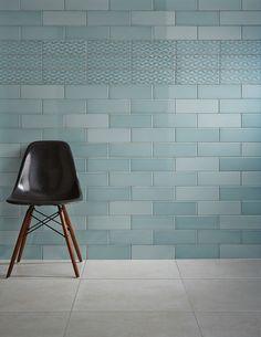 Savoy Leaf Gloss 300 x 100mm by Johnson Tiles