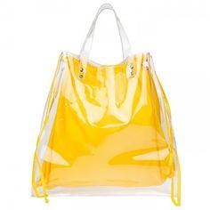 Διάφανη αδιάβροχη τσάντα από πλαστικό που συνοδεύεται απο αδιάβροχη θήκη πουγκί αποσπώμενη.  Διάσταση: 50x40cm.
