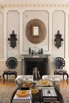 #CeylonetCie room with sharp black paint accents and furnishings at #GraystoneMansion.