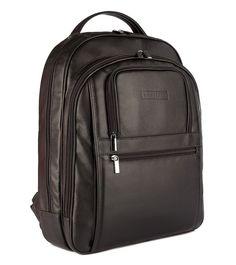 Mochila Masculina Office em couro legítimo preta - Enluaze Loja Virtual | Bolsas, mochilas e pastas