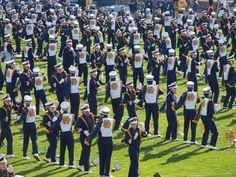 University of Notre Dame marching band, fall 2010. Photo by Paula Wethington