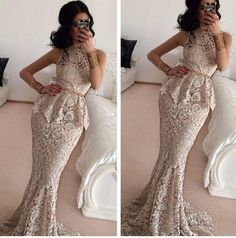 Latest African Nigerian Ankara Lace Wedding Dresses 2015 New Two Pieces Mermaid Prom Party Evening Gowns With High Neck Lace Hollow Dresses Wedding Dress Cheap Wedding Dress Short From Internationalwedding, $110.58| Dhgate.Com