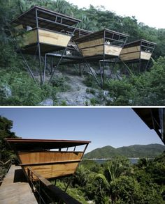 eco-friendly platform suites at the Verana Hotel, Yelapa, Mexico