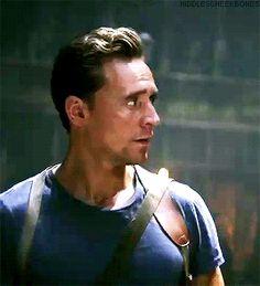 Tom Hiddleston as Captain James Conrad in Kong: Skull Island (multiple TV spots). Gif-set (by hiddlescheekbones): http://maryxglz.tumblr.com/post/156136016182/hiddlescheekbones-were-going-to-save-kong-tom