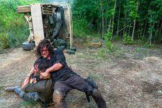 08x05 - Big scary U #TWD <em>The Walking Dead:</em> Norman Reedus on that Daryl and Rick brawl