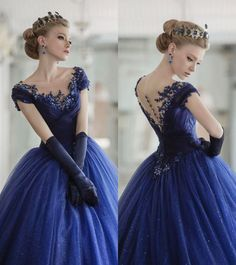 Vestido estilo princesa ou rainha azul, dress blue queen