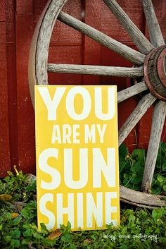 For my next baby: You are my sunshine, typography word art, Nursery art, Nursery wall art, Baby Girl nursery art,  Girl Nursery Decor,  Playroom Art. $35.00, via Etsy.