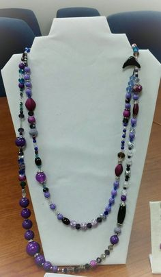 Check out this item in my Etsy shop https://www.etsy.com/listing/256105655/purple-silver-black-and-blue-gorgeous