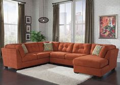 Delta City Rust Right Arm Facing Corner Chaise Sectional, /category/living-room/delta-city-rust-right-arm-facing-corner-chaise-sectional.html