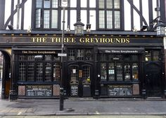 Quick pint in The Three Greyhounds before we go fabric shopping?