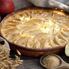 Flan aux pommes au Thermomix® Kitchenaid, Dessert Thermomix, Mousse Au Chocolat Torte, Vegan Meal Prep, Vegan Thanksgiving, Apple Recipes, Cupcakes, Dessert Recipes, Food And Drink