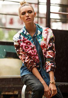 SHAKUHACHI flower bomb jacket